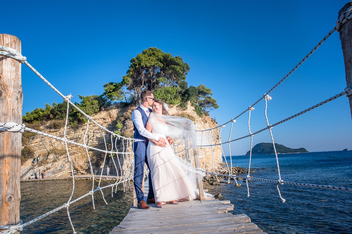 Cameo Island Bridge Zante Greece Destination Wedding Photographer Catherine Bradley